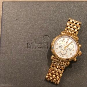 Michele Gold CSX Round watch with gold bracelet